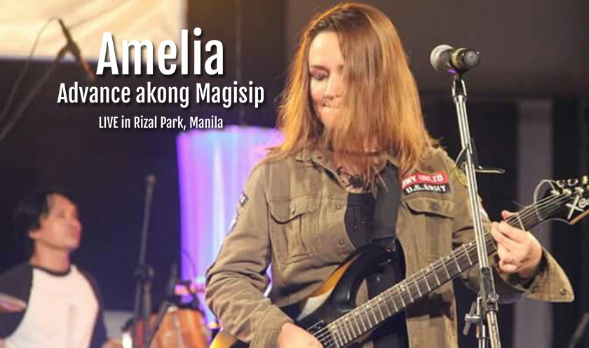 Amelia, Rising Indie Band With Advance Akong Magisip - Live