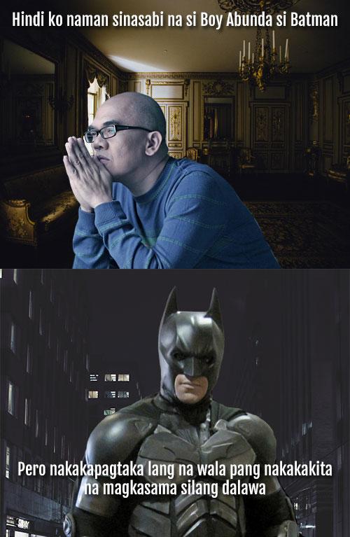 batman is boy abunda