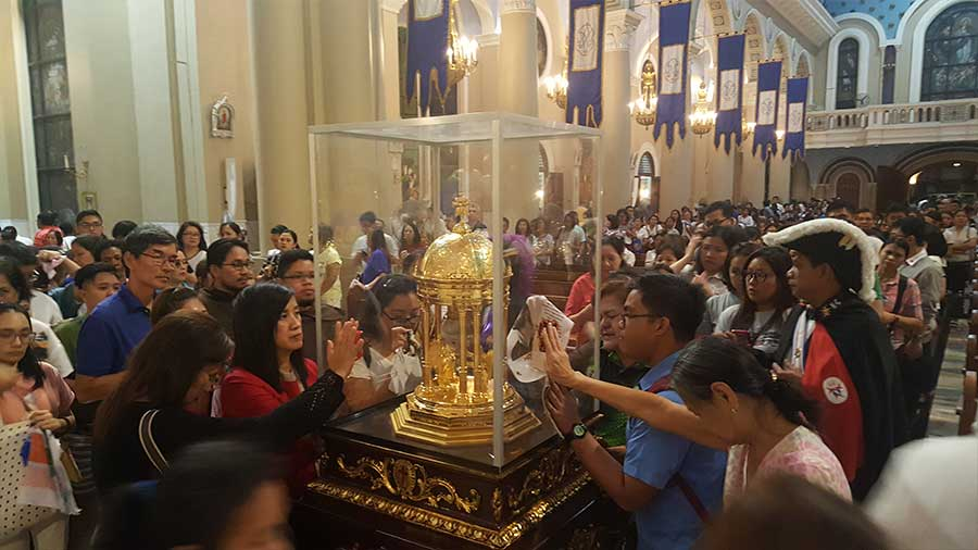St. Camillus Heart Relic in The Immaculate Conception Cathedral of Cubao