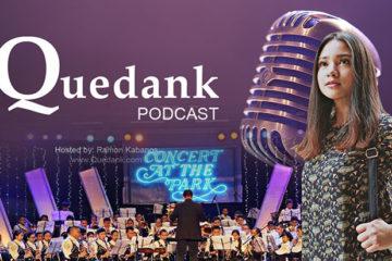 Vanya Castor with Imus Youth Symphonic Band 83 at usapang crush: Q Podcast