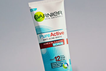 Removing My Pimples Caused By Stress - Garnier 'Pure Active' Anti Acne and Oil Clearing Facial Scrub