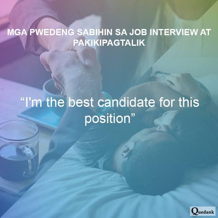 Mga pwedeng sabihin sa job interview at pakikipagtalik