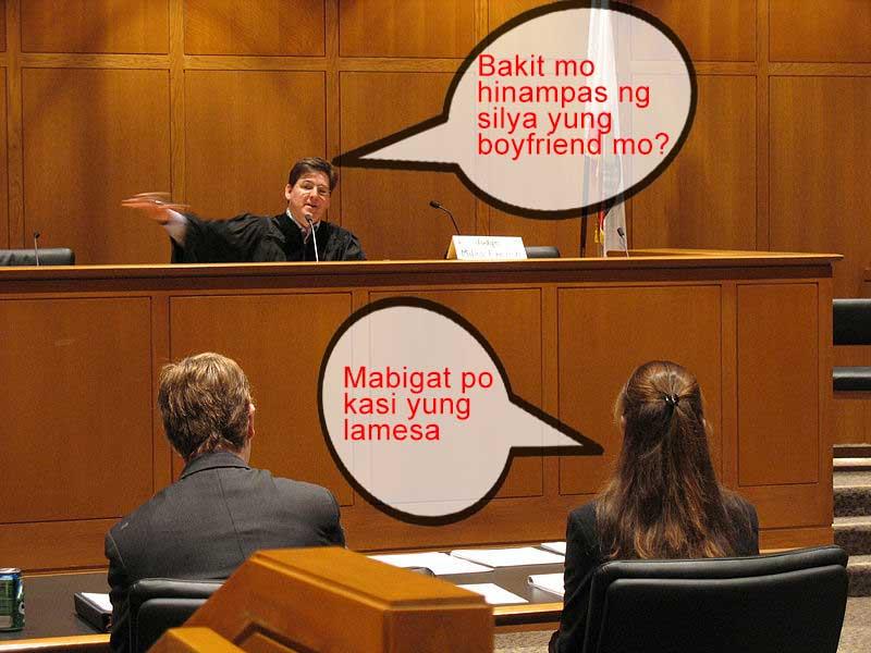 Yung sumumpa ka kay judge na sasabihin mo ang totoo