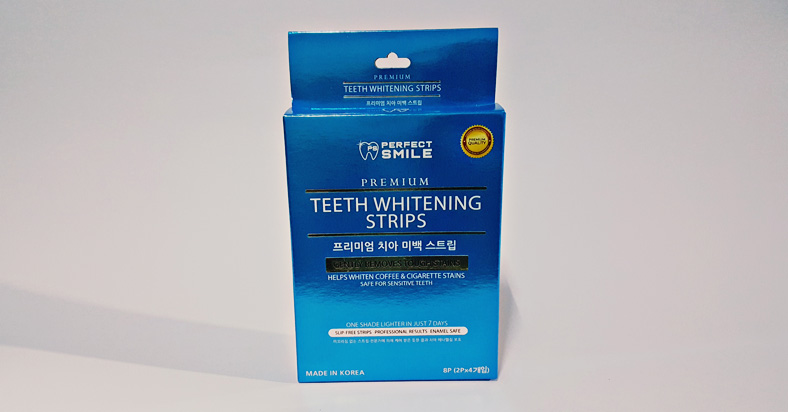 Making My Teeth Whiter With 'Perfect Smile' - Teeth Whitening Strips